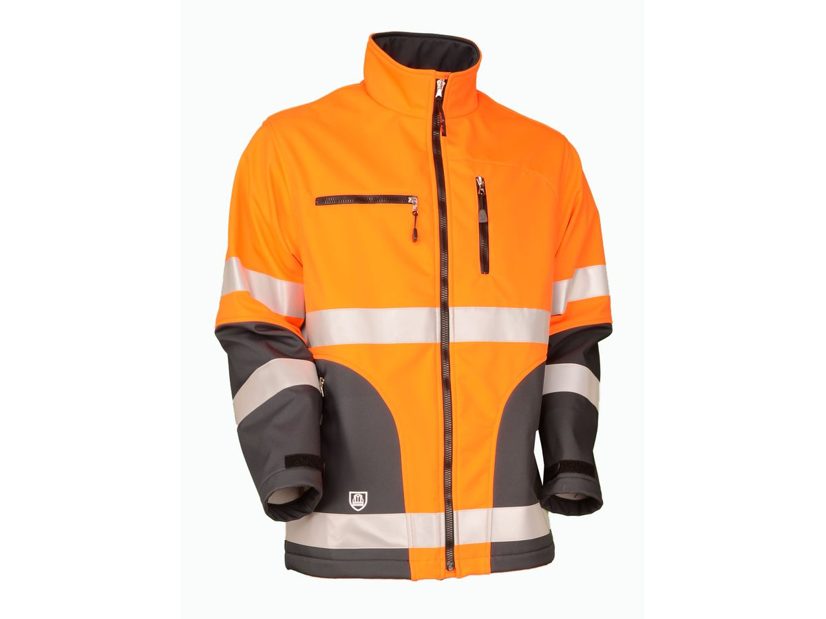 Warn-Softshelljacke Safetyline EN 20471 orange/grau