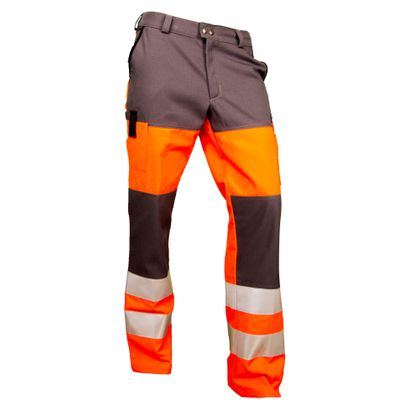 Warn-Bundhose Multifunktion orange/grau