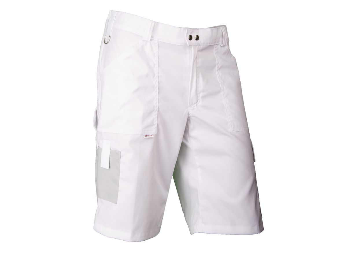 Bermudas Swissline Light-Stretch weiss/hellgrau