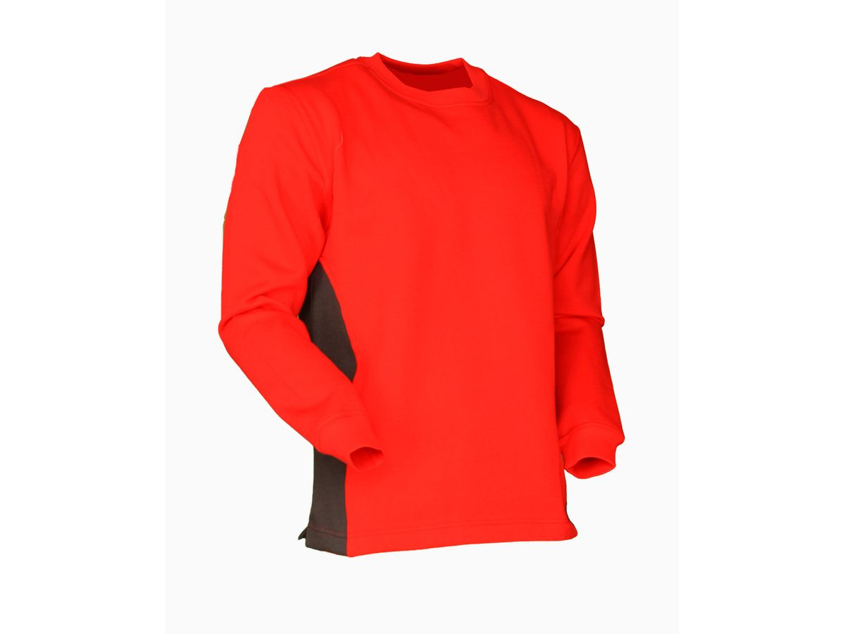 Sweat-Shirt Swissline rot/anthrazit