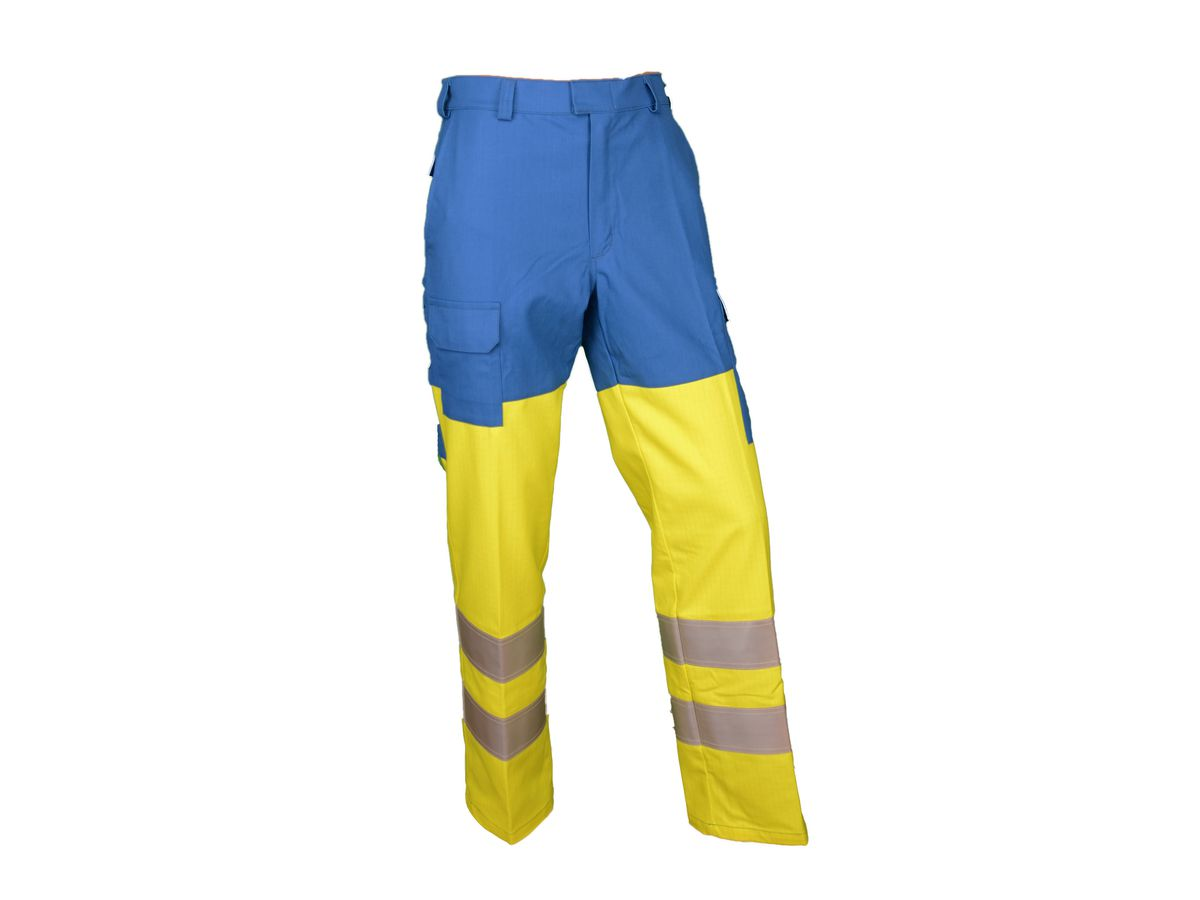 Warn-Bundhose Alpha Multifunktion gelb/royalblau