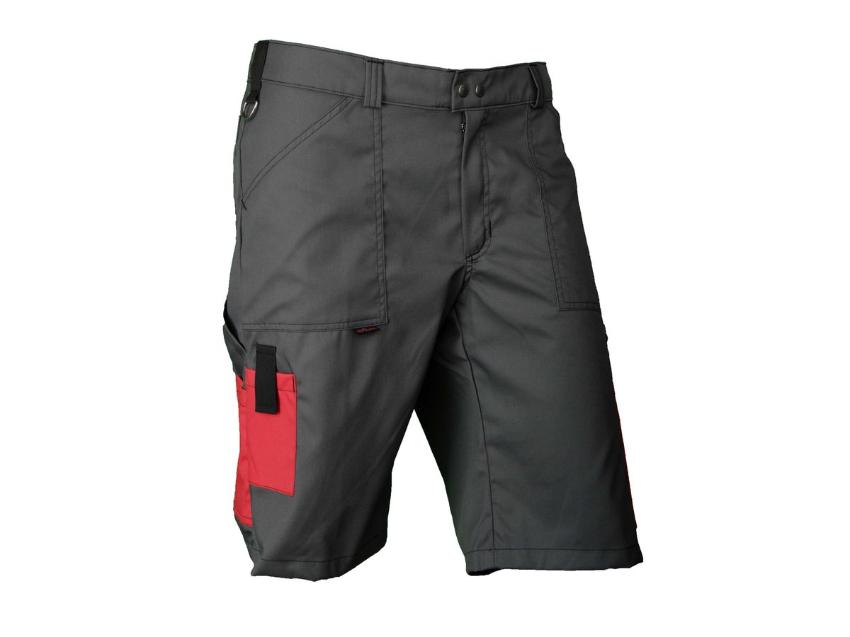 Bermudas Swissline Light-Stretch dunkelgrau/rot