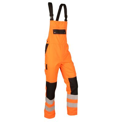 Warn-Latzhose Safetyline SL orange/schwarz
