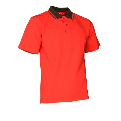 Polo-Shirt Swissline rot/anthrazit