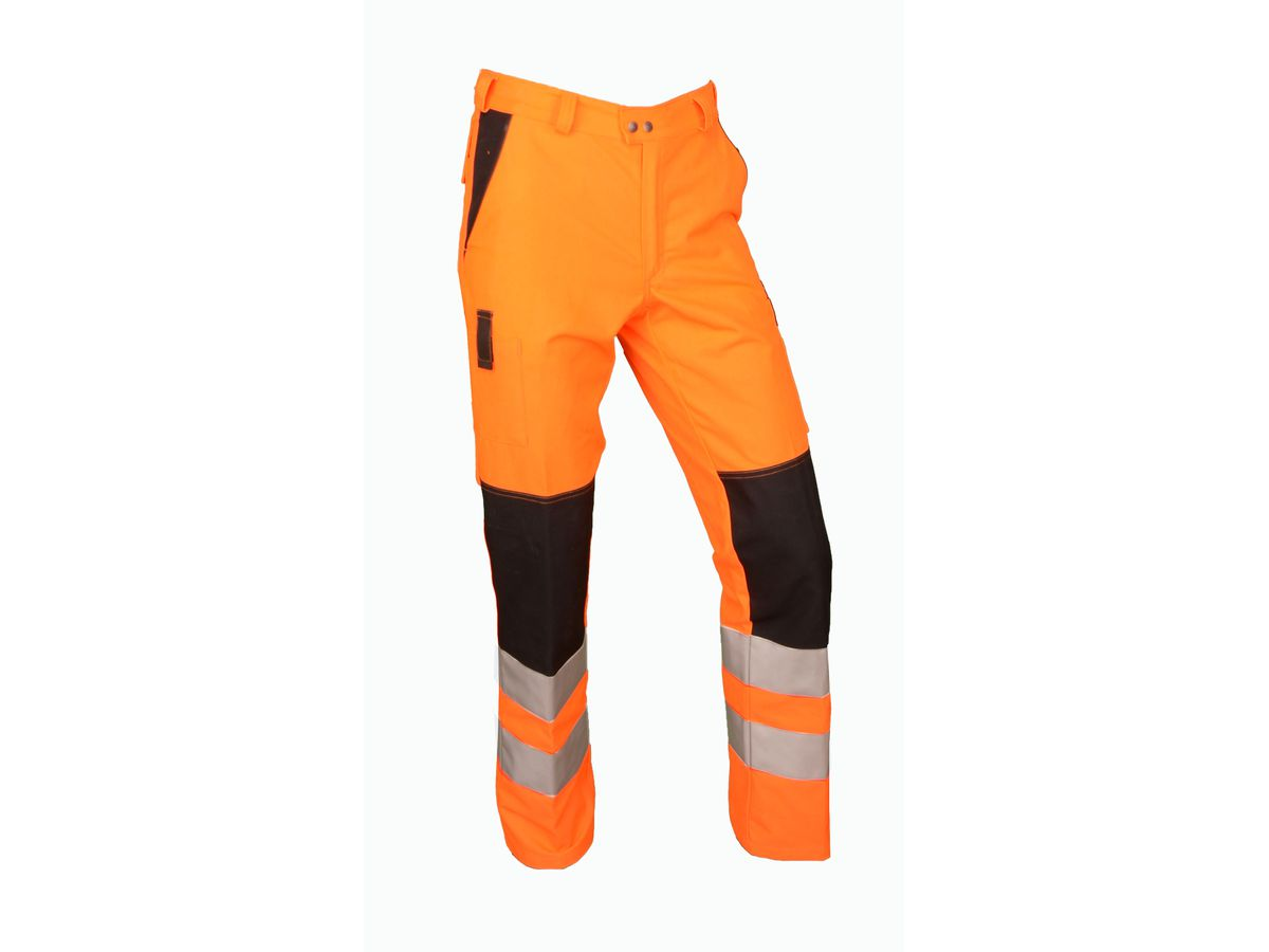 Warn-Bundhose Safetyline orange/schwarz