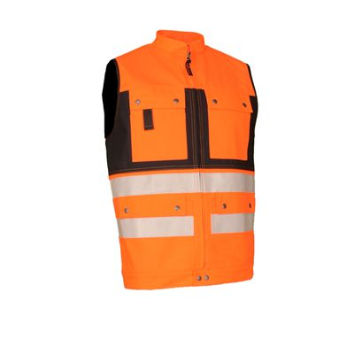 Warn-Gilet Safetyline SL orange/schwarz